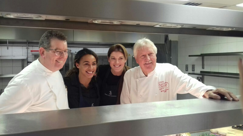 The day two international sporting icons cooked with two great chefs